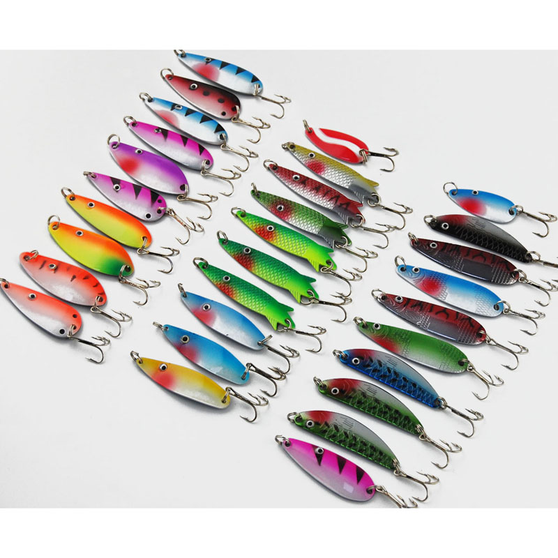 30pcslot fishing lure kitset mixed colorsizeweightdiving depth 30pcslot fishing lure kitset mixed colorsizeweightdiving depth metal spoon spinner lure fishing tackle isca artificial in fishing lures from sports solutioingenieria Image collections