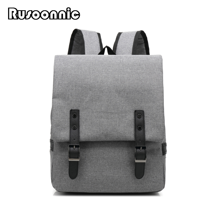 Rusoonnic Men Canvas Backpack Women Oxford Travel Bags Retro Backpacks Unisex School Bag luggage 13 laptop backpack bag school travel national style waterproof canvas computer backpacks bags unique 13 15 women retro bags