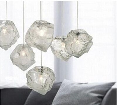 Lighting lamps fashion Ice pendant light bar brief crystal stone pendant light  living room lights bedroom lamps стоимость