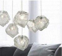 Verlichting lampen mode ijs hanglamp bar korte crystal stone hanglamp woonkamer slaapkamer lampen
