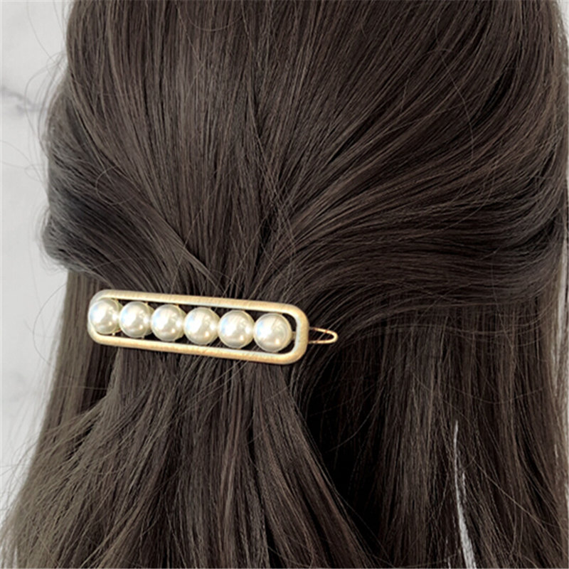 1 pc Retro Vintage Crystal Pearl Elegant Women Barrettes Hair Clip For Women Girl Wedding  Hair Accessories drop shipping