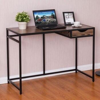 להפליא Giantex מחשב שולחן מחשב נייד שולחן מודרני עץ למעלה מתכת מסגרת TX-65