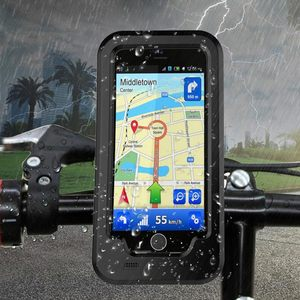 Image 5 - Waterproof Bike Phone Holder Motorcycle Telephone Support Stand for Iphone XS 7 8 Plus 5S SE Shockproof Cases for SE 2020 Holder
