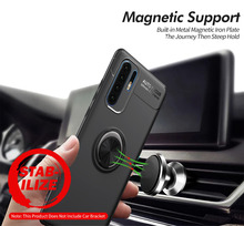 For Huawei P30 Pro Case Luxury Car Bracket Ring Magnetic TPU Protective Lite Cover for P 30