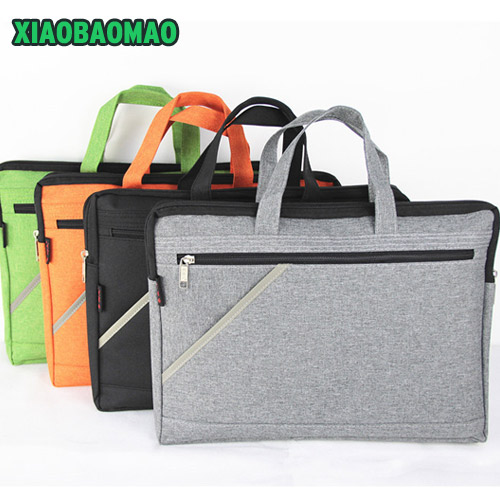 High Capacity Business Document Bag Briefcase A4 File Folder Filing Bag Meeting Bag Handle Zipper Pocket Organizer Case 4 Colors
