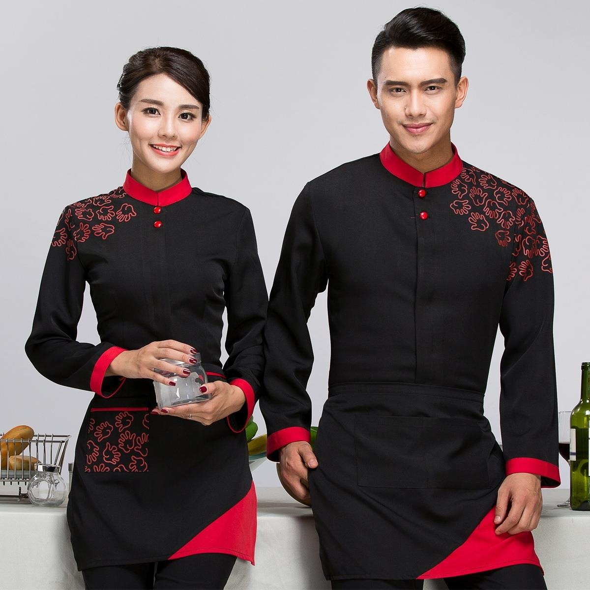 Work Wear & Uniforms Novelty & Special Use Energetic Dragon Chinese Restaurant Chef Jacket Short-sleeved Chef Service Uniform Hotel Working Wear Kitchen Chef Top Jackets 89