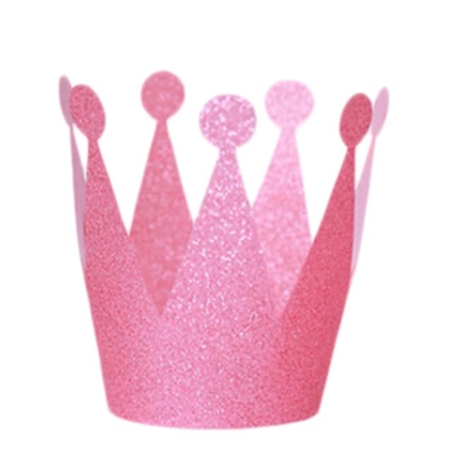 6 Pz lotto Scintillio Piccolo Principe Principessa Corona Di Plastica  Cappelli Decorazioni Festa di Compleanno ec41b5c75b21