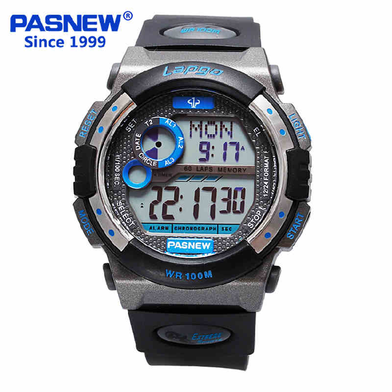 100 Depth Swim Multifunctional Electronic Watches Luminous Student Watches Mens Watches Waterproof Outdoor Running Sports Watch