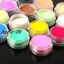 12 Colors Nail Art Tips UV Gel Acrylic Powder Dust Builder Design 3D Decoration Manicure Professional