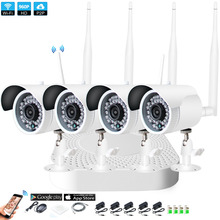 Plug and Play 4CH 1080P HD Wireless NVR Kit P2P 960P Indoor Outdoor IR Night Vision Security 1.3MP IP Camera WIFI CCTV System