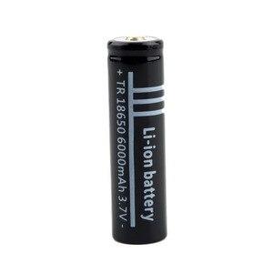 Image 5 - 10 יח\חבילה באיכות גבוהה ליתיום Li יון נטענת סוללה 18650 סוללות 3.7 V 6000 mAh עבור פנס לפיד משלוח חינם