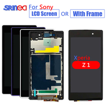 LCD For Sony Xperia Z1 Screen LCD Display 1920x1080 5.2'' L39 L39H C6902 C6903 LCD Touch Digitizer with Frame Assembly Adhesive new lcd display touch screen digitizer with frame assembly for sony xperia z1 l39h c6902 c6903 screen 100% guarantee