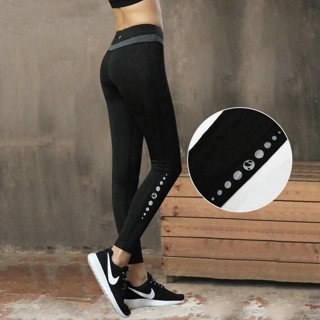 136ab518027d8b Outdoor Reflective Sport Women Stretching Yoga Pencil Pants Ladies  Elasticity Slim Fitness Leggings Tights Long Pant Clothing