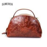SUWERER брендовая кожаная сумка кожаная женская сумка 2018 новая роскошная сумка с принтом модная сумка через плечо сумка