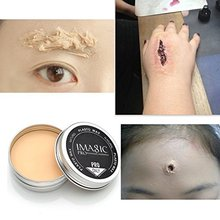 Special Effects Stage Makeup Halloween Party Fake Wound Scars Wax + Spatula Tool – 2PC