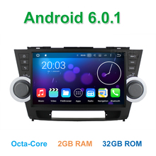 Octa Core Android 6.0 Coche DVD GPS de Radio para Toyota Highlander 2011 2012 2013 2014 con WiFi Bluetooth 2 GB RAM