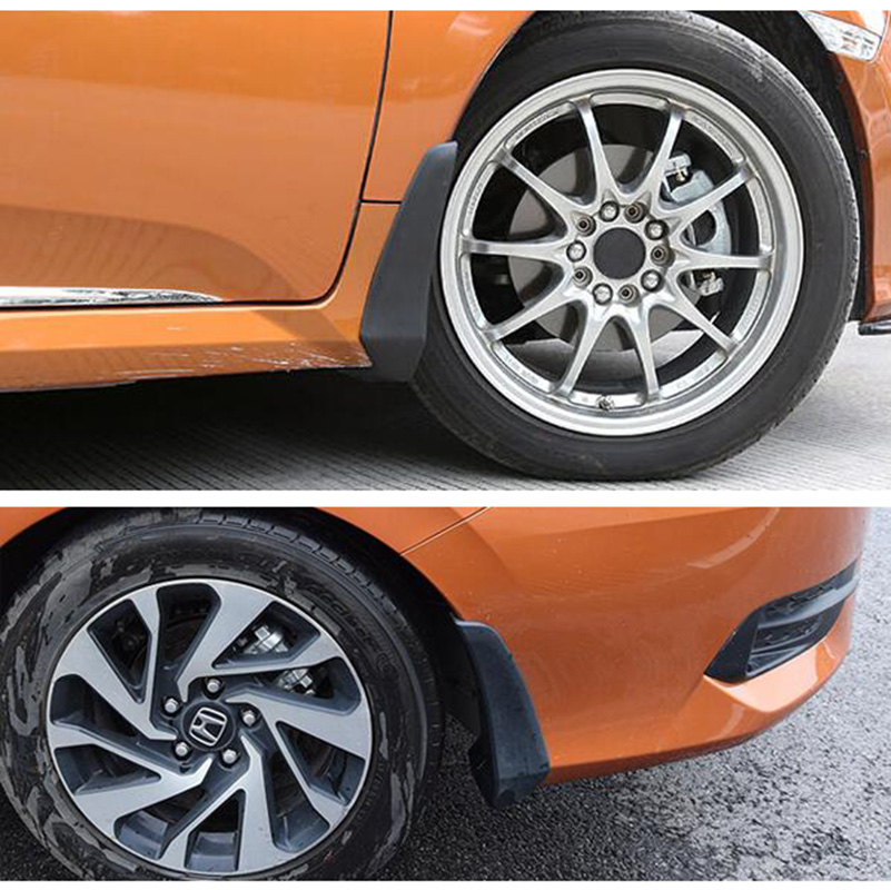 Image 5 - FOR HONDA CIVIC 2016 2017 2018 2019 ALL NEW 4 DOOR SEDAN MUDFLAPS MUD FLAP FLAPS SPLASH GUARD MUDGUARDS FRONT REAR FENDER MOLDED-in Mudguards from Automobiles & Motorcycles