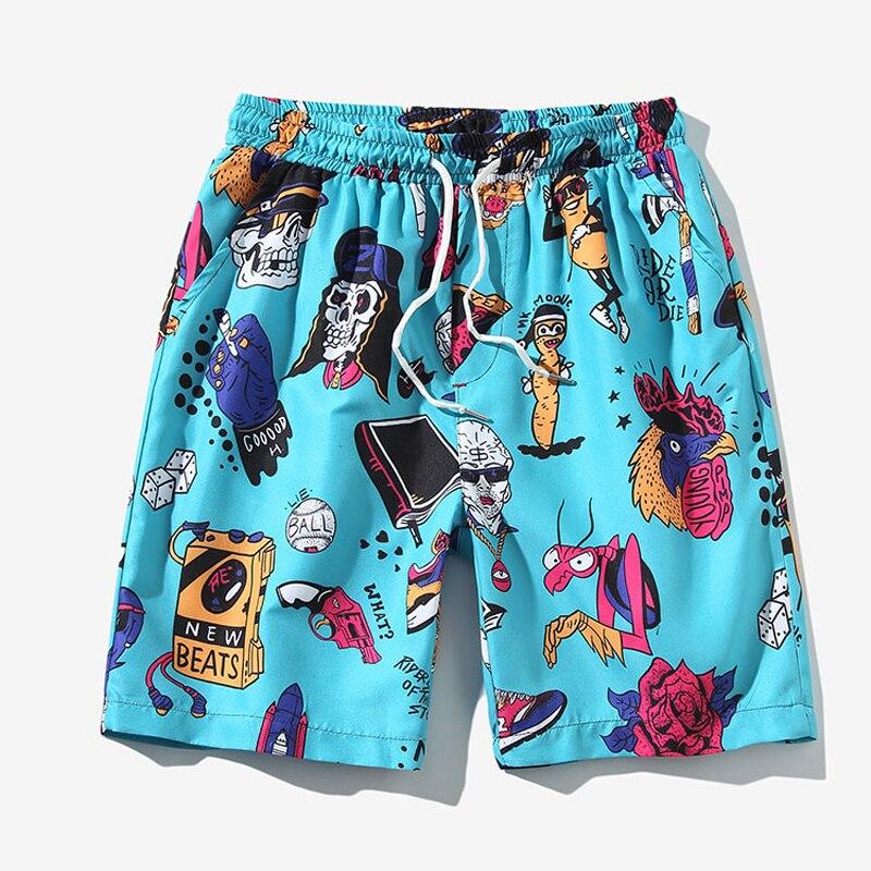 2019 Men's Shorts Beach Short De Bain Bermuda Swimwear Men Board Shorts Male Shorts Boardshorts Plus Size 5XL