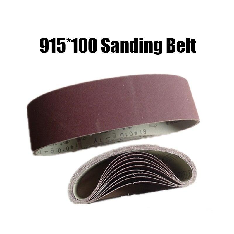 5 Pieces 915*100mm Sanding Belts P60 - P600 Abrasive Sanding Screen Band 4