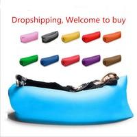 Drop Shipping Fast Inflatable Lazy Bag Air Banana Sofa Nylon Laybag Air Camping Portable Beach Bed