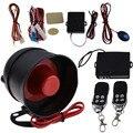 1-Way Sistema de Proteção Alarme de Carro Auto Veículo Assaltante Sistema de Segurança Keyless Entry Siren + 2 Controle Remoto