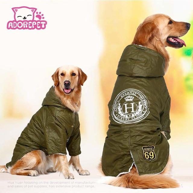 Esercito verde Inverno Caldo grande di grandi dimensioni Del Cane di Animali Ves