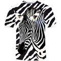 New Funny 3D T Shirt Men zebra Printed Top Tees Casual Man Slim Fit Short Sleeve O Neck Male Tee High Quality Shirts