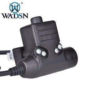 Image 2 - WADSN Airsoft หูฟัง U94 PTT สำหรับ KENWOOD Plug Walkie Talkie Baofeng UV 82 วิทยุอะแดปเตอร์ Push to Talk Softair ชุดหูฟัง WZ113