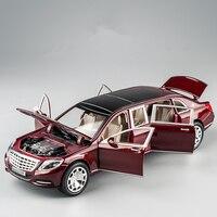 KIDAMI Maybach alloy car model 1:24 simulation alloy car model children boy sound and light pull back toy car