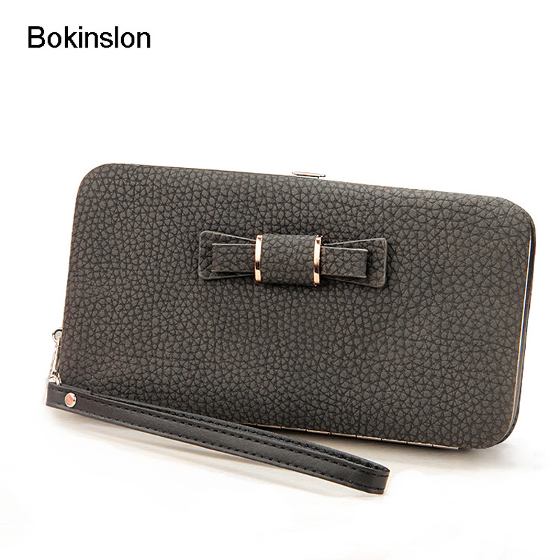 Bokinslon Woman Wallet Brand Designer PU Leather Casual Girl Wallet Long Section Zipper Women Wallet Fashion portable nylon parachute double hammock garden outdoor camping travel furniture survival hammock swing sleeping bed for 2 person