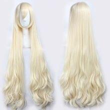 47 120cm Wavy Long Light Blonde Kagerou Project Marry Kozakura Mari Heat Resistant Hair Cosplay Costume Wigs + Free Wig Cap