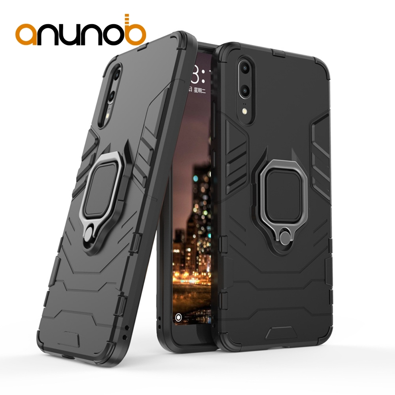 Phone Cases For Huawei P20 Lite nova 3E Covers For Huawei P20 Pro Plus P20plus Case Finger Ring Hard Bags Iron Man Housings