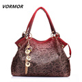 VORMOR Hollow Out Large Leather Tote Bag 2017 Luxury Women Shoulder bags, Fashion Women Bag Brand Handbag Bolsa Feminina