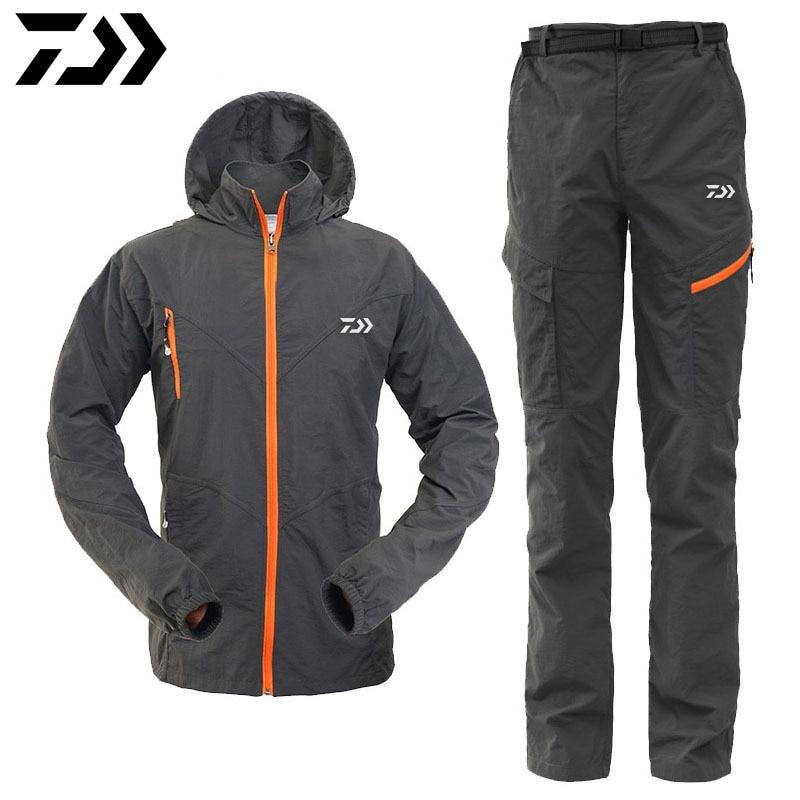 Brand dawa daiwa man outdoor sportswear zipper waterproof for Waterproof fishing clothing