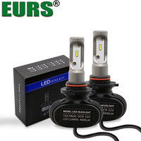 EURS TM 2PCS All In One High Quality S1 CSP 50W 6500K 9005 HB3 9006 HB4