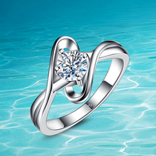 New fashion design;925 pure sliver ring;Zircon ring; 925 genuine solid pure silver jewelry for women;Acceptable wholesale;