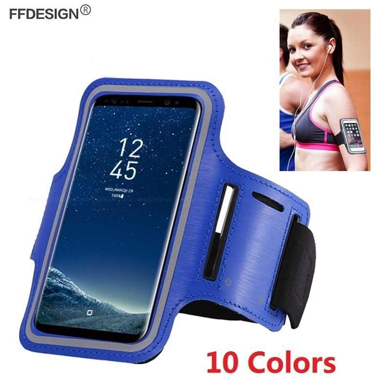 Armband Universal Phone Case on Hand for Samsung Galaxy Note 9 8 S6 S7 Edge S8 S9 Plus Sport Mobile Phone Holder Case Bag Cover