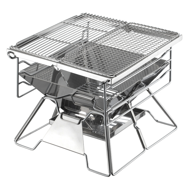 Thickening Adjustable Charcoal Barbecue Grill/outdoor Detachable Stainless  Steel BBQ Stove Patio Roast