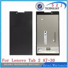 Новый 7 »Full ЖК-дисплей Дисплей + Сенсорный экран планшета Стекло сборки для Lenovo Tab 2 A7-30 A7-30HC Планшеты PC защитный чехол