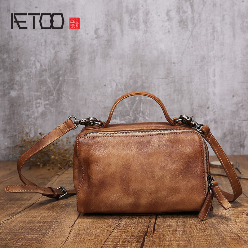 AETOO 2017 new leather handbags handbags small square package retro simple shoulder diagonal package