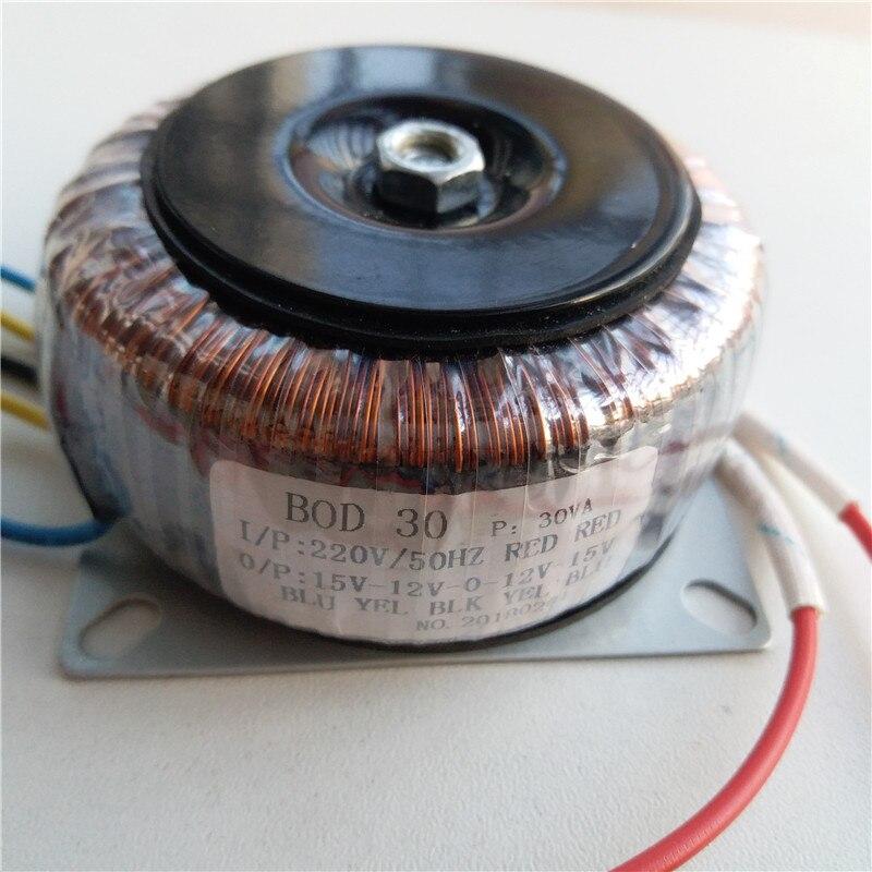 Dual 12V/15V 15V-12V-0-12V-15V Ring transformer 220V input copper custom toroidal transformer 30VA for power supply amplifierDual 12V/15V 15V-12V-0-12V-15V Ring transformer 220V input copper custom toroidal transformer 30VA for power supply amplifier