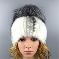 Solid Mink  Fur Big Fur Ball Hat 2016 Winter Novelty High Quality Mink  Fluffy for Women Beanies Fur Hat