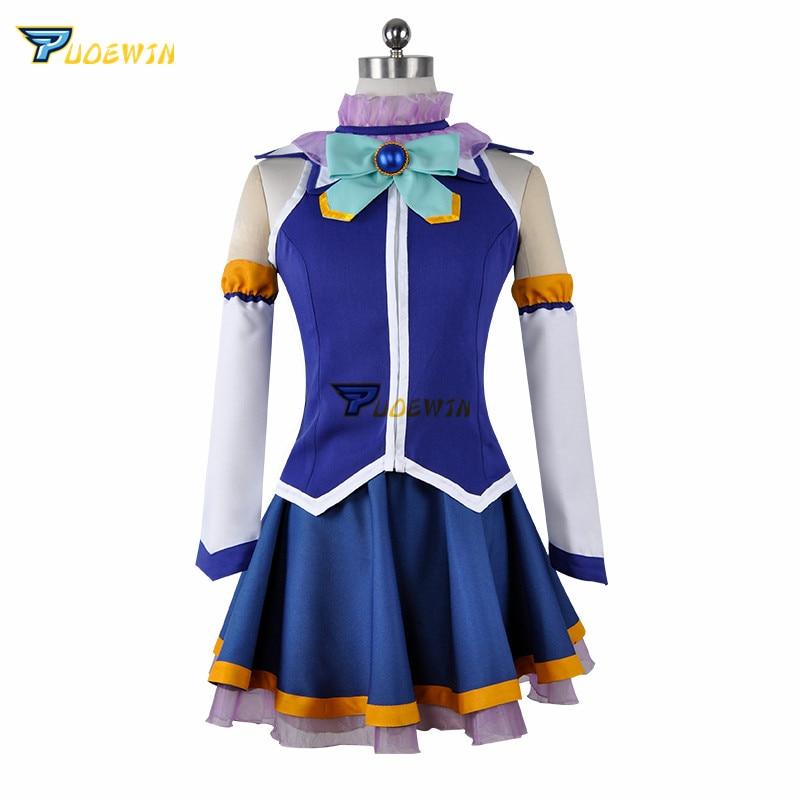 KonoSuba God's Blessing on this Wonderful World Aqua Tops Dress Uniform Outfit Anime Cosplay Costumes