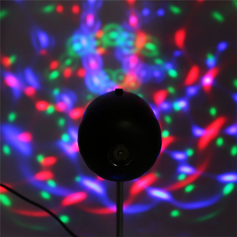 ZjRight 2 i 1 USB RGB Stage Light Party DJ KTV Bar Vit Led crystal - Kommersiell belysning - Foto 6