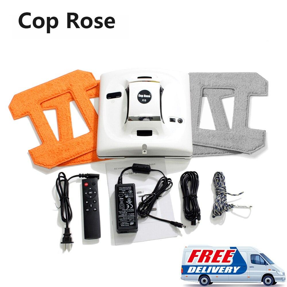 Cop Rosa X6 Robot per Finestre Lavatrice Aspirapolvere Robot Pulitore di Vetro Della Finestra Tergicristallo Pulitore Rondella Robot Finestre Lavaggio Robot