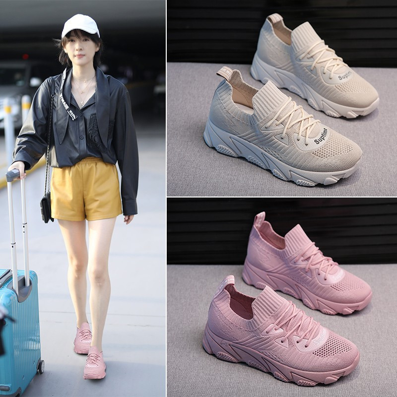2019 spring new ladies socks shoes comfortable non slip wear resistant bear sole casual thick soled students white shoes in Women 39 s Vulcanize Shoes from Shoes