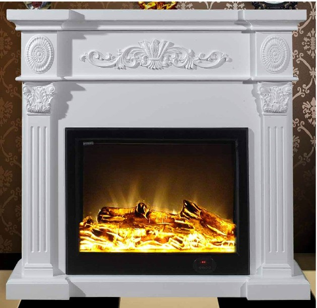 Fashion Solid Wood Fireplace Frame Decoration Wick Electric