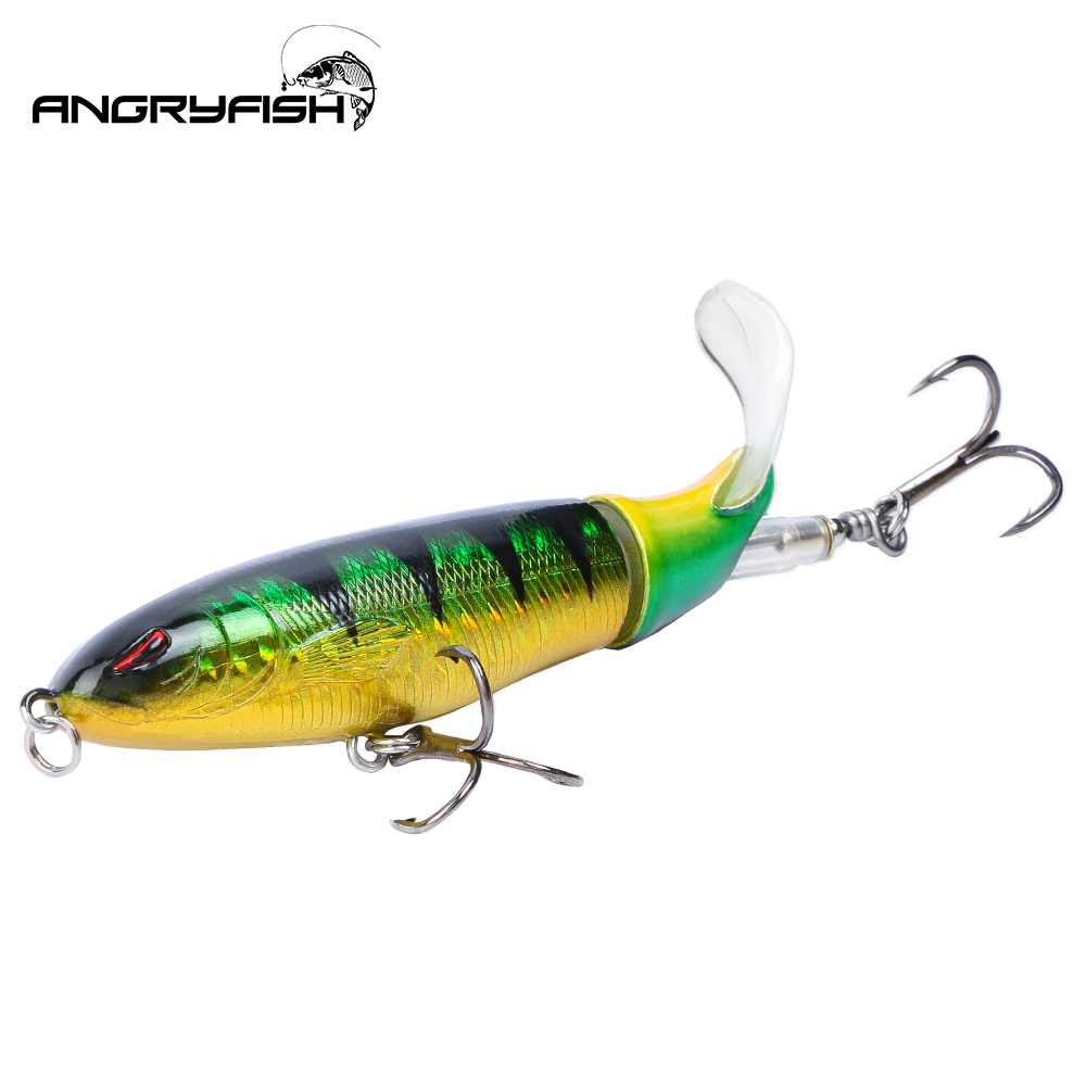 ANGRYFISH Hot Sale 1pcs 80mm 7.9g Fishing Lures 6 Segments Realistic Fishing Artificial Bait 5 Colors C8001 title=