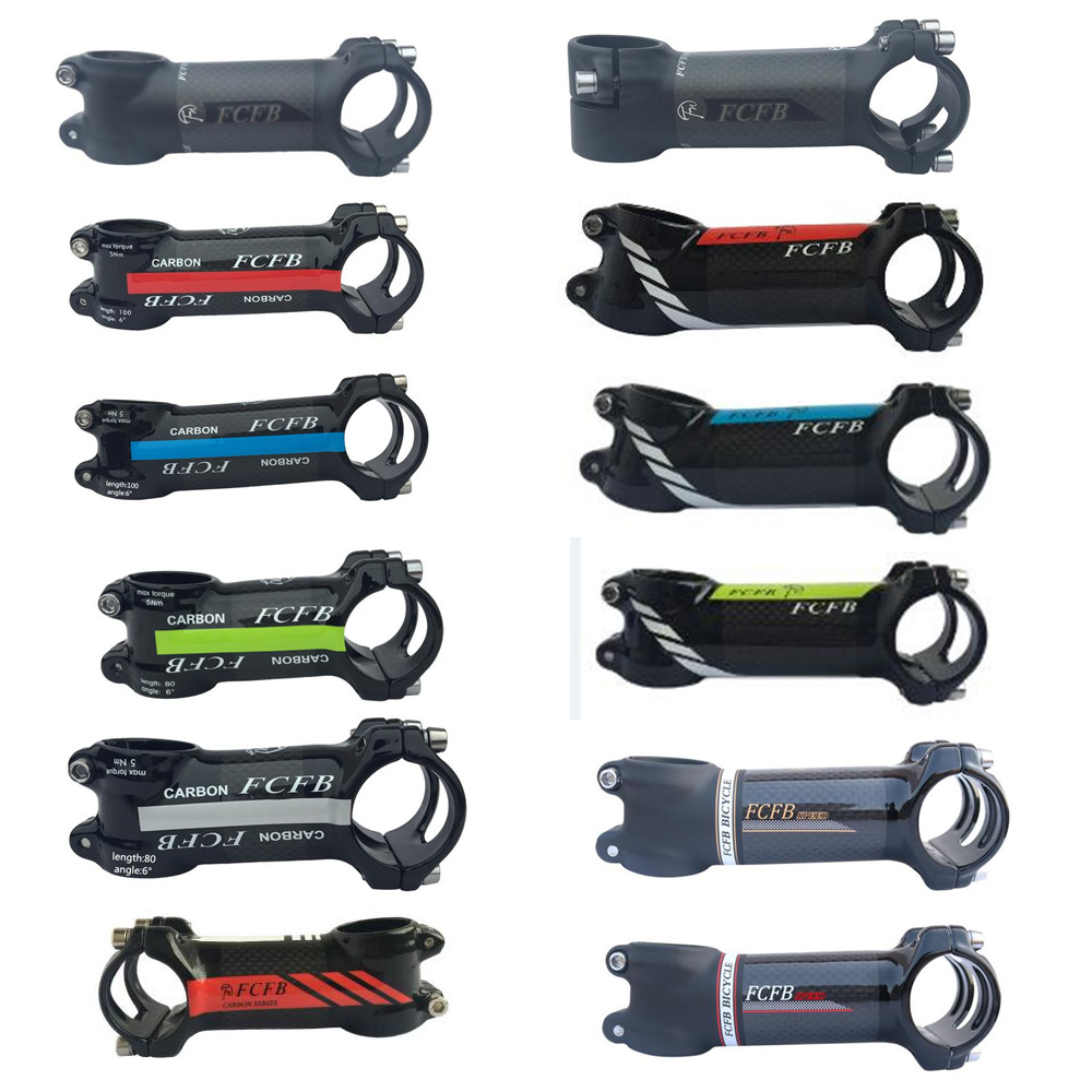 Special Price FCFB  Carbon Bike Stem Road/MTB Aluminum Carbon Stem Angle 6 Angle 17 Bicycle Cycling Fork 28.6mm Handlebar 31.8mm