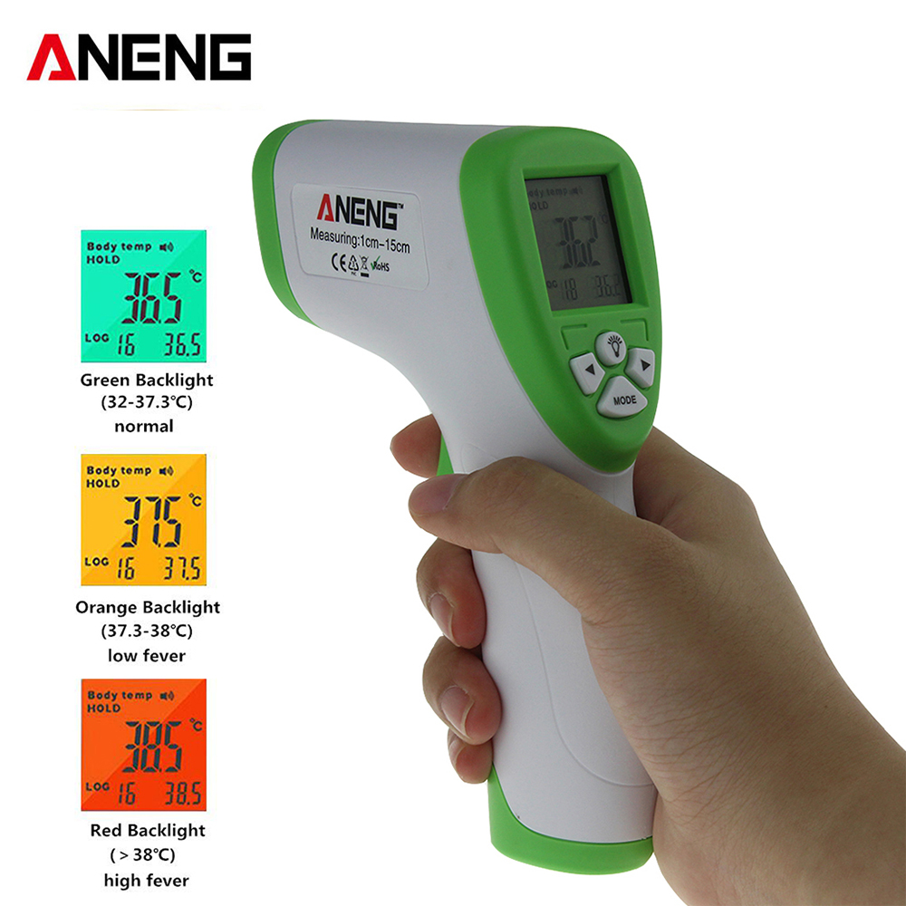 Adult Baby Thermometer non contact infrared forehead infrared digital LCD temperature measurement gun 32 ~ 43c / 90-109.4f cofoe thermometer body temperature fever measurement forehead non contact infrared lcd ir digital tool device for baby child